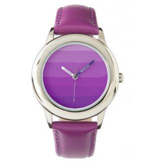 Purple Ombre Wrist Watch