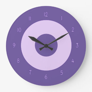 Purple on Purple Wall Clock