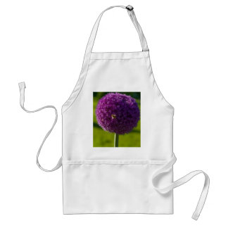 Purple Onion Flower and Bee Apron