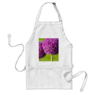 Purple Onion Flowers Apron