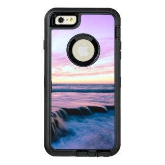 Purple Orange Beach Sunset Tide Pool Waterfalls OtterBox Defender iPhone Case