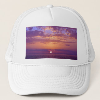 Purple Orange Florida Sunset Trucker Hat
