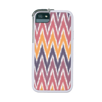 Purple Orange Ikat Chevron Zig Zag Stripes Pattern iPhone 5 Case