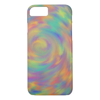 Purple Orange Optical Illusion Spiral Abstract Art iPhone 8/7 Case