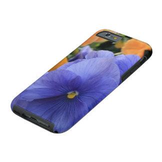 Purple & Orange Pansies w/ Green Floral Photo 4810 Tough iPhone 6 Case