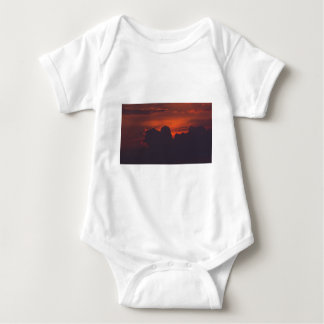 Purple orange sunset clouds baby bodysuit