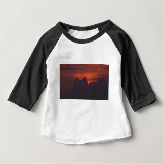 Purple orange sunset clouds baby T-Shirt