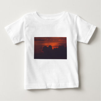 Purple orange sunset clouds baby T-Shirt