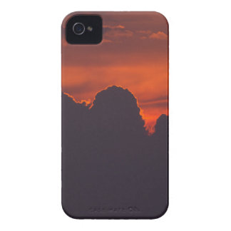 Purple orange sunset clouds Case-Mate iPhone 4 case