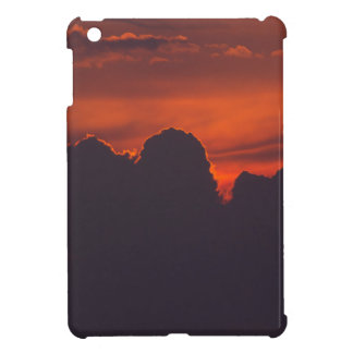 Purple orange sunset clouds iPad mini covers