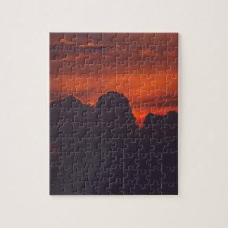 Purple orange sunset clouds jigsaw puzzle