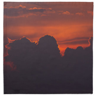 Purple orange sunset clouds napkin