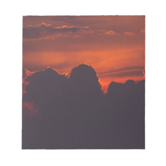 Purple orange sunset clouds notepad