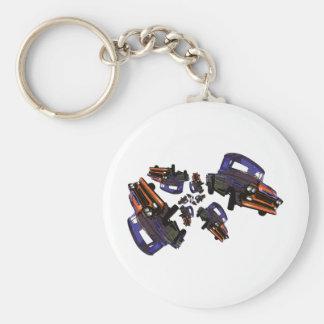 Purple Orange Vintage Truck Chaos Key Ring