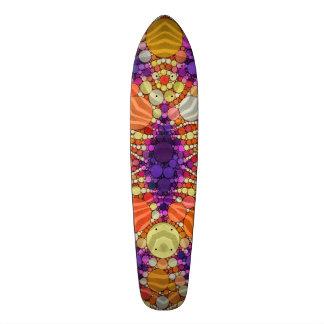 Purple Orange Zebra 21.3 Cm Mini Skateboard Deck