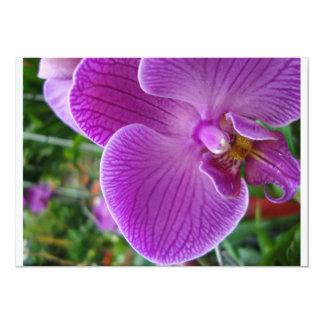"Purple Orchid 5"" X 7"" Invitation Card"
