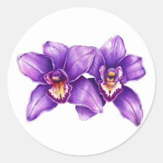 Purple Orchid Art Sticker