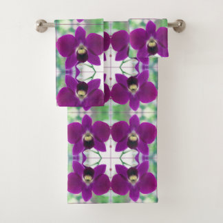 Purple Orchid Bath Towel Set