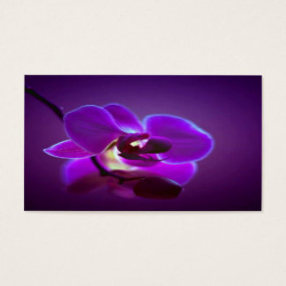 Purple Orchid Business Card