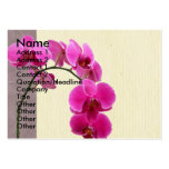 Purple orchid business card templates