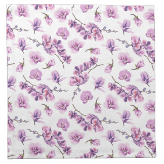 Purple Orchid Cloth Napkins