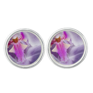 Purple Orchid Cuff Links