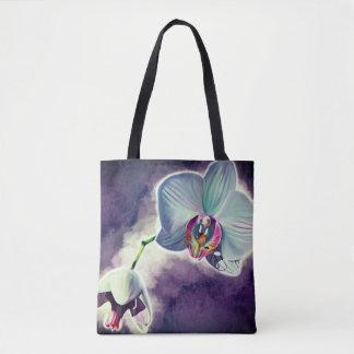 Purple Orchid design tote bags