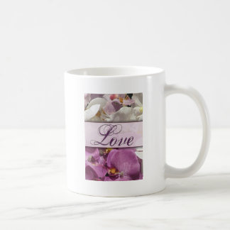 Purple Orchid explosion with love Coffee Mugs