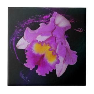 Purple Orchid flower Ceramic Tile