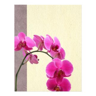 Purple orchid flyers