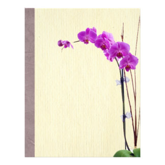 Purple orchid full color flyer