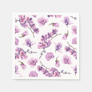 Purple Orchid Napkins Disposable Napkin