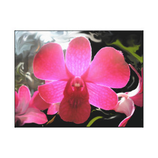 Purple orchid photo wrapped canvas