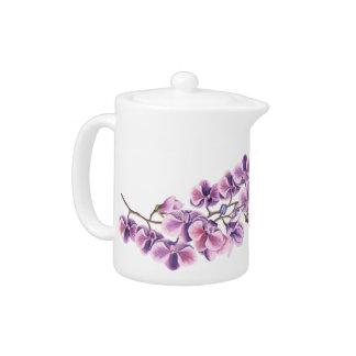 Purple Orchid Tea pot