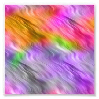 Purple Orchid Wavy Texture Photo Print