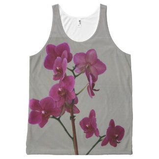Purple Orchids All-Over Print Singlet
