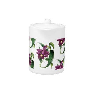 Purple Orchids flowers Pattern