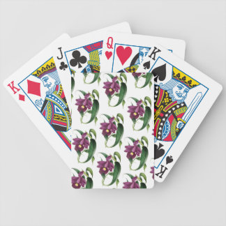 Purple Orchids flowers Pattern Bicycle Playing Cards