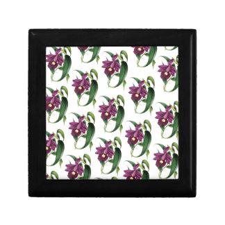 Purple Orchids flowers Pattern Gift Box