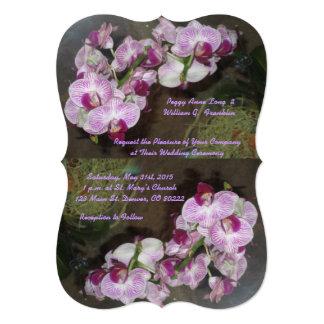 Purple Orchids Wedding Invitations