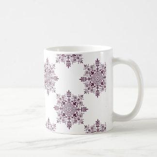 purple ornamental damask mug