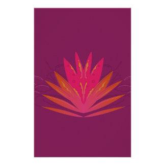 Purple ornaments luxury stationery