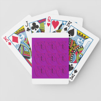 Purple ornaments / shop bicycle playing cards