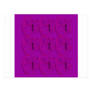 Purple ornaments / shop postcard