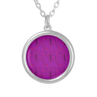 Purple ornaments / shop silver plated necklace
