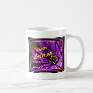 Purple Osteospermum Flower Basic White Mug