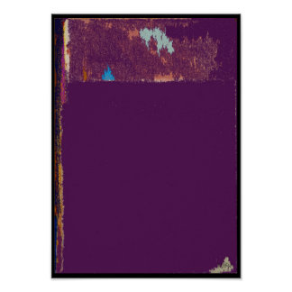 Purple Over Purple Expression Abstract Poster