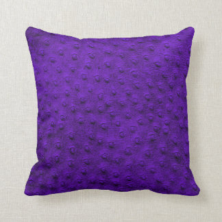 Purple Oversized Ostrich Leather Grain Pillow