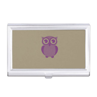 Purple Owl Business Card Holder
