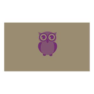 Purple Owl Business Cards